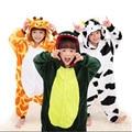 Crianças Animal Pijama Cosplay Halloween Trajes de Festa de Natal Bonito Dos Desenhos Animados Do Bebê Das Meninas Dos Meninos Pássaro Panda Onesies Pikachu