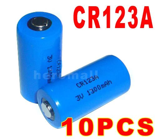 Cr123a Cr123 Cr 123 123a Lithium Battery 3v 1300mah Free Shipping