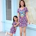 2017 мать дочь платья девушки мультфильм платье соответствия мать и дочь одежда наряды мама и дочь платье семья посмотрите