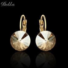 2016 Fashion Sapphire Jewelry Gold Plated Earring For Women Austrian Crystal Purple Drop Earrings With Stone Ruby Jewelry  E0001