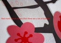 бабочка сердца сакуры гигантские стены винила наклейки надписи гостиная спальня искусство домашнего декора