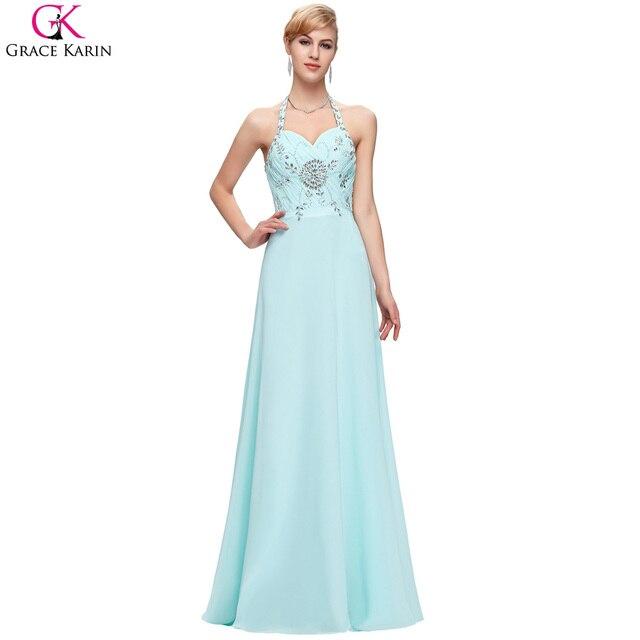 Light Blue Abendkleider Lange Elegante Kleider Gnade Karin Halter ...