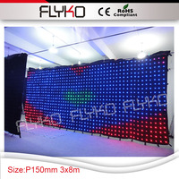 media sexy display pixel pitch 15cm led wall hot led video curtain 3x8m flexible soft lights cloth