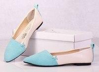 2015 новый евро 35-40 кожа матовое кожа женщины плоские туфли для леди обувь и выбрать один из 6 цвета
