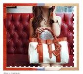 корея девушки ручной мюзет барабан кожаная сумка шаблон малый сумка сумочка 25