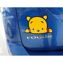 Car Styling Funny Little Winnie Car Sticker Car Body Decal for Tesla Chevrolet Volkswagen Hyundai Kia Lada