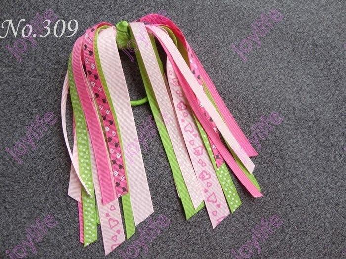 Новые 300 шт. новые моды хвост о волосы бант хвост растяжки Разноцветные хвост растяжки