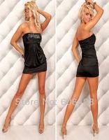 новый женская сексуальное блесток платье-труба без бретелек Клубная одежда мини платье клубные ну вечеринку мини платье bodycon платья белый черный 8831