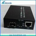 Бесплатная Доставка! 2 шт. 10/100/1000 Base media converter с SFP порта