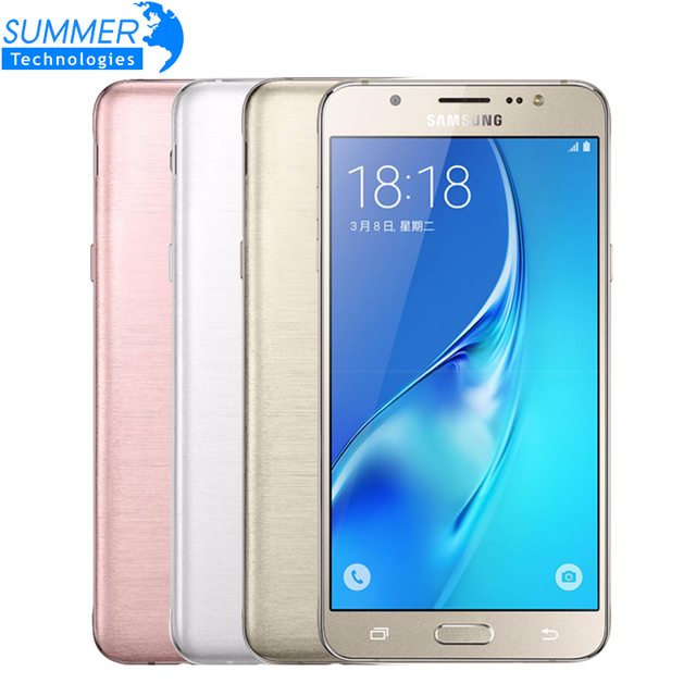 "Original Samsung Galaxy J7 J7108 (2016) Octa Core Dual SIM FDD/TDD LTE Mobile Phone 3G RAM 16G ROM  5.5"" 13.0MP NFC Cell Phones"