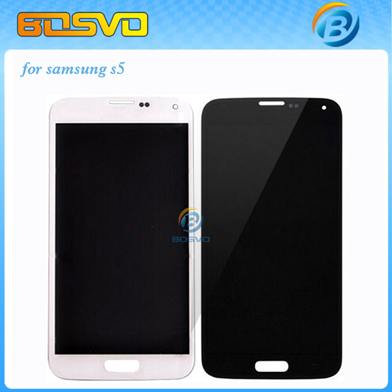 Free DHL EMS LCD display with touch screen digitizer assembly For Samsung for galaxy s5 i9600 G900 G900f lcd 10 pieces a lot
