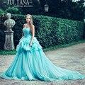 Juliana elegante bata de pelota vestidos de quinceañera 2017 con gradas plisados lace-up sweet 16 vestidos de baile vestido de 15 anos qa945