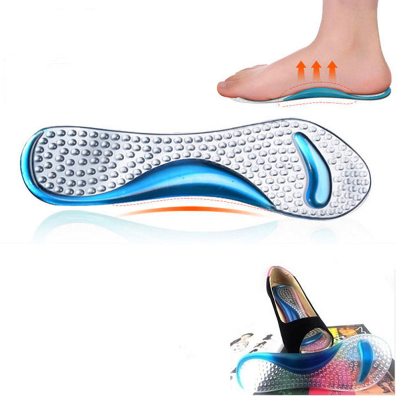 Gel Massage Arch Support 3/4 Insoles Orthotic Flatfoot Prevent Foot Cocoon Painful Women High Heels Shoes Pad Silicone Inserts