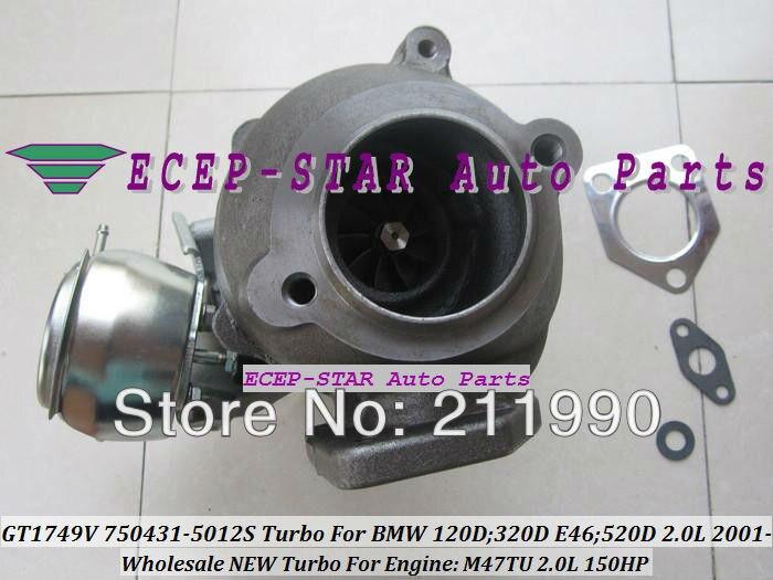 GT1749V 750431-5012S 750431-5009S 750431 Turbo Turbine Turbocharger For BMW 120D 320D E46 520D 2.0L 2001- M47TU 150HP (6)