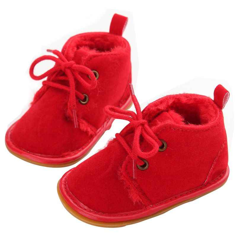 50707808b Для новорожденных мальчиков и девочек обувь на шнуровке Фрист ходунки  детские осенние ребенка теплые зимние ботинки