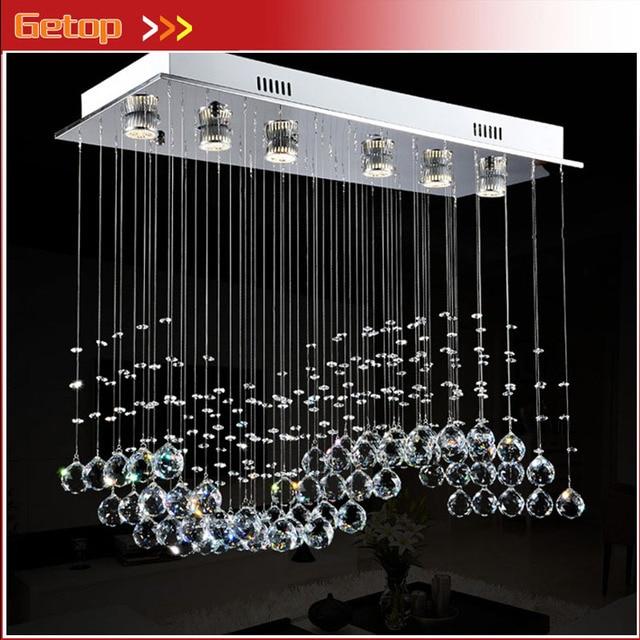 ZX Rechteck Welle form Kristall kronleuchter LED Enthalten Hängenden ...