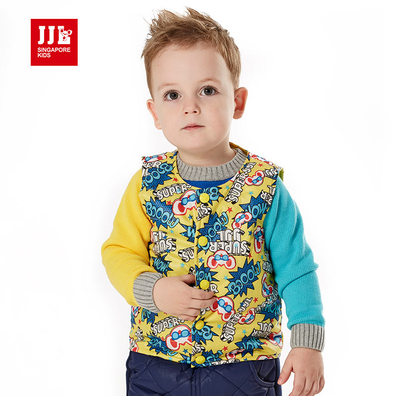 brand boys winter vest outerwear baby waistcoat children clothing cotton padded kids costumes clothes 2015 new