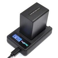 Durapro NP FV100 FV100 NP FV100 Battery + LCD USB Charger For Sony DCR DVD103 XR100 for Sony HDR XR550/E HDR XR350/E HDR XR150