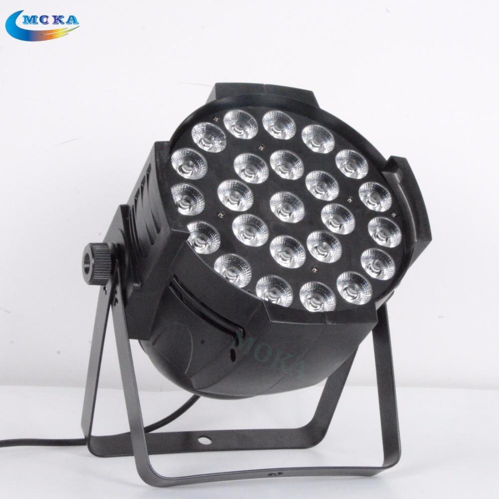 2 pcs/lot 6 in1 RGBWAP dmx led par light dj Indoor Pro strobe Light disco equipment 24 LED light bulbs led effect
