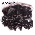 Stock 8A Brazilian Virgin Hair Lace Frontal Closure 13x6 Loose Wave Nautral Color 130%Density Bleached knots With Baby Hair