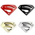 NOVA vindo 3D 3 M chrome emblem Auto logotipo Superman emblema do metal Da Motocicleta acessórios estilo Do Carro adesivos de carro Engraçado