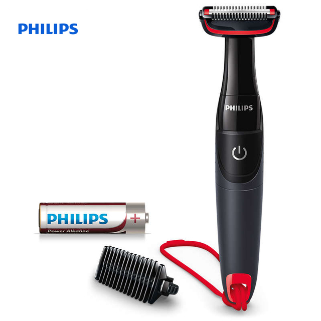 Philips Bodygroom series 1000 body groomer Unique Skin Protector 3mm trimming comb 100% waterproof AA battery power BG105/10