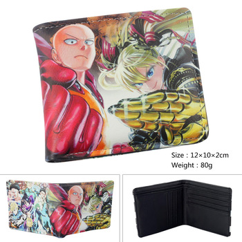 Japanese Anime ONE PUNCH-MAN PU Short Wallet Purse Colorful Printing Type B 1