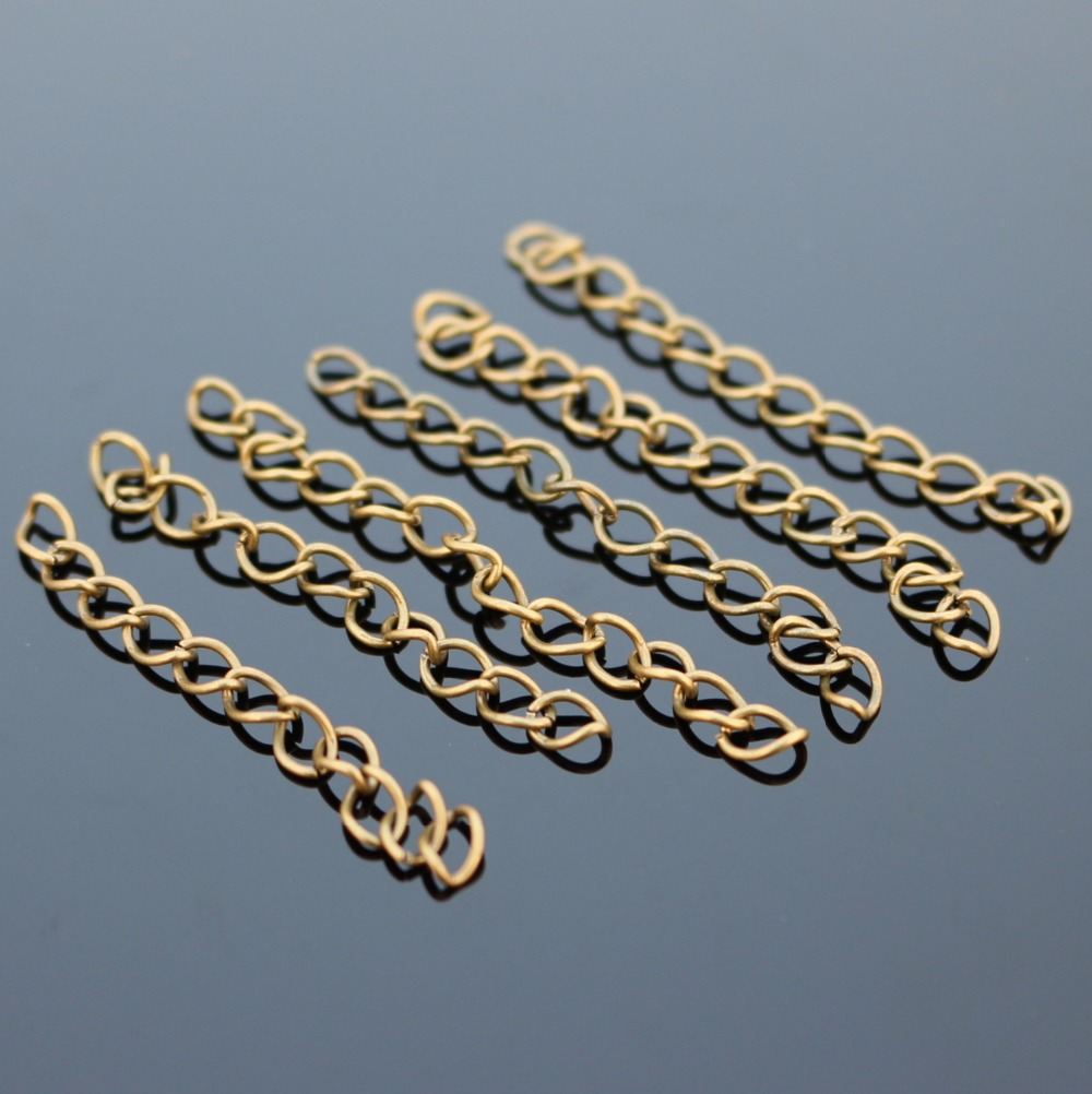 D005 50pcs/lot Chain of tail chains Vintage Bronze Necklace Bracelet Jewelry Findings & Components back DIY Extended chain