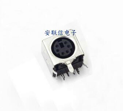 Free Shipping!!!  4pcs PS2 Socket / Block PS-2 / Keyboard And Mouse Socket 6P /Electronic Component