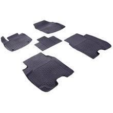 Резиновые коврики для Honda Civic IX Хэтчбек (2012-2016) с высокими бортиками (Seintex 84994)