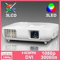 Projectores Led 1080 p nativo 1920*1080 Projetor proyectores vídeo 3D Portátil hd ready 3000 Lumens