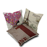 Digital Printing Latest 100 Cotton Sofa Seat Cushion Covers