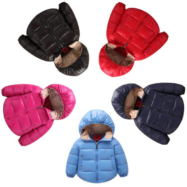 Retial meninos jaqueta de inverno de cores sólidas inverno casaco para as meninas jaquetas 100% casaco de algodão para baixo do inverno das crianças para meninos & meninas