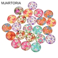 MJARTORIA Glass Cabochon 20mm Fashion Accessories Materials Round Supplies for Jewelry Accessories Harvesting For Jewelry 10PCs