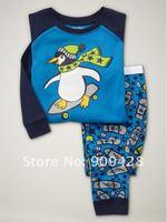 бесплатная доставка 6 компл./дешевые лот детская одежда, мальчики хлопок пижамы с напечатаны, дети пижамы wrc45