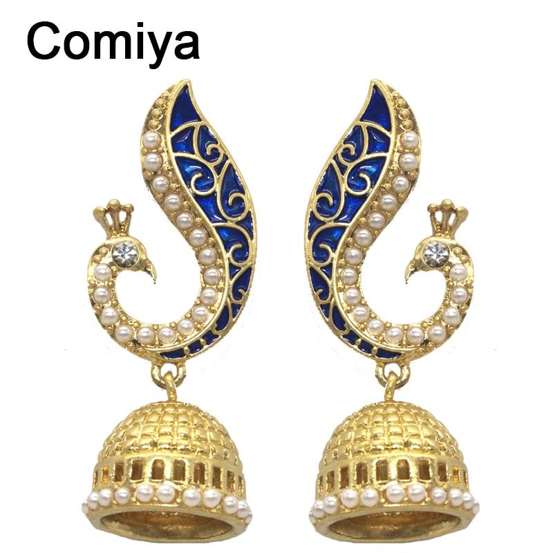Comiya-Gold-Pearl-Blue-Peacock-drop-earrings -for-women-mosaic-brincos-de-festa-indian-jewelry-pendientes.jpg