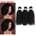 Malaysian Curly Virgin Hair Kinky Curly 3 Bundle Deals Unprocessed Raw Virgin Hair Curly Weave Human Hair Extensions No Shed