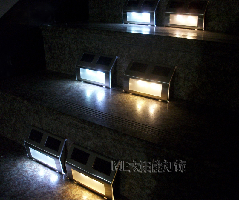 Led solar powered step light for outdoor using no batteries needed make your outdoor areas safer at night with solar lighting just install and forget no maintenance required each pack contains 2 led light boxes workwithnaturefo