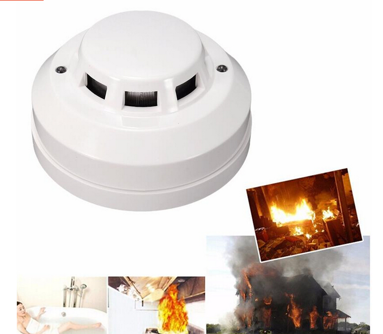 Wired Photoelectric Smoke Detector Operating Voltage DC12V,Output NO/NC Choose for Fire Smoke Alarms 2pcs/lot.