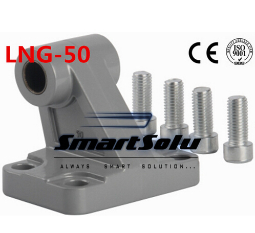 Free Shipping 5pcs/lots LNG - 50 ISO6431 cylinder attachment, inclined installation of the support, DNC, SE cylinder accessories attachment and mentoring functions of career and psychosocial support