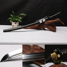 Hand Forged Katana 1095Carbon Steel Clay Tempered White And Black Samurai Sword Sharp Edge Real Weapon