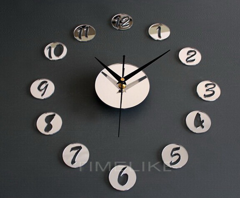 1Pc Home Decor Wall Clock Acrylic Creative Mirrors Figure In Small Round Wall Clock Best DIY Clock