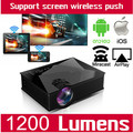 Built-in DLNA Miracast Airplay Home Theater Video Portable Mini Micro Handy Small LED Projector For Phone Tablet uc46