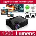 Incorporado DLNA Miracast Airplay de Cine En Casa de Vídeo Portátil Mini Micro Mano Pequeño Proyector LED Para El Teléfono Tablet uc46