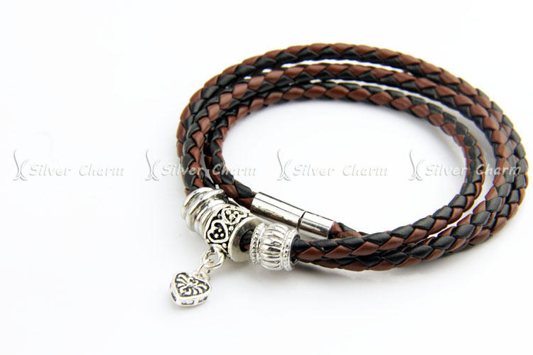 Newest Arrival Silver Charm Black Leather Bracelet for Women Five Colors Magnet Clasp Christmas Gift Jewelry PI0311 UT8S2KzXXtdXXagOFbXq