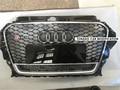 Para Audi A3 RS3 Styling ABS Grade Dianteira Do Carro Auto Grades de malha com furo câmera Para Audi A3 S3 RS3 2013-2015