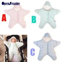 2016 New Romper Baby Stripe Cotton Clothes Autumn Winter Children Baby Little Starfish Ramper Clothes Light