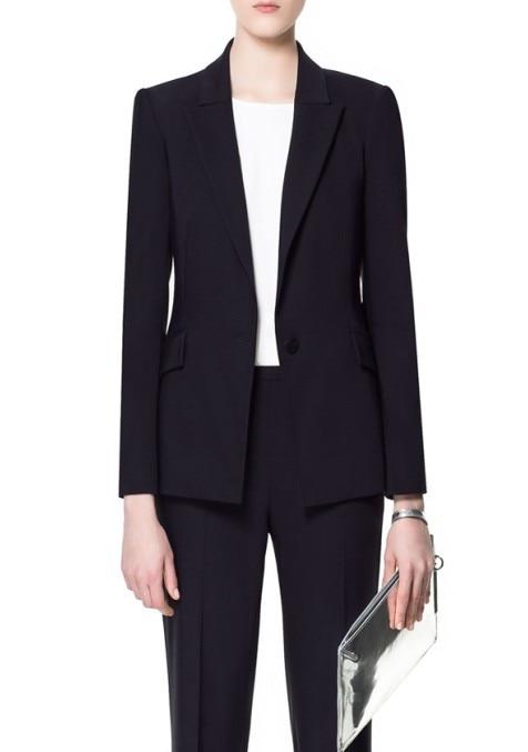 Neue Anzug Schlank Hochwertige Kost MaNavy Frauen Langarm 2015 Nach Business Ol Stil Y7yvfb6g