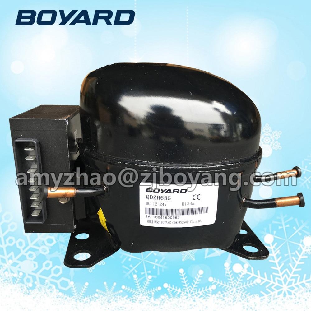 BOYARD 12v dc fridge compressor for solar beverage cooler refrigerator spare parts dc 12v refrigeration compressor for solar beverage cooler with solar panel power