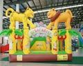 2016 Ciudad Inflable de La Diversión para Niños zona infantil de juegos inflables gorila inflable salto casa